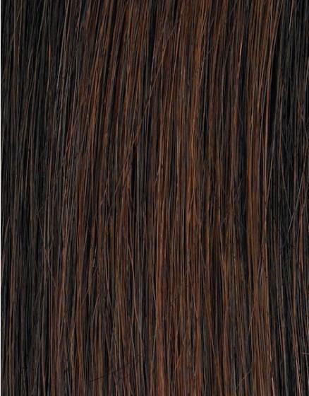 Τρέσα από φυσική τρίχα REMY 120cm x 50cm Καστανό Σκούρο 3-0